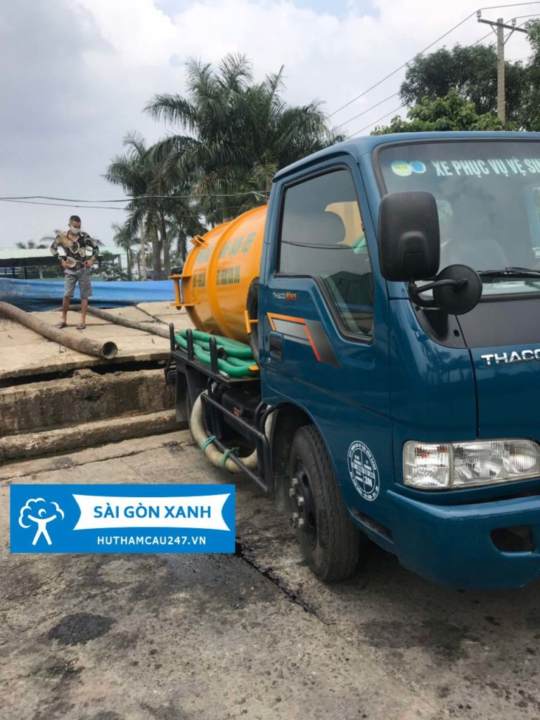 Hút hầm cầu 247 Sài Gòn Xanh hợp tác cùng với Khu xử lý Chất thải Đa phước